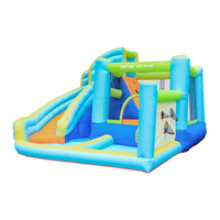 Doctor Dolphin Inflatable Commercial Water Slides Bouncer for Kids Ball Hole Water Pool House Small Bouncy Castle Jumper Jump