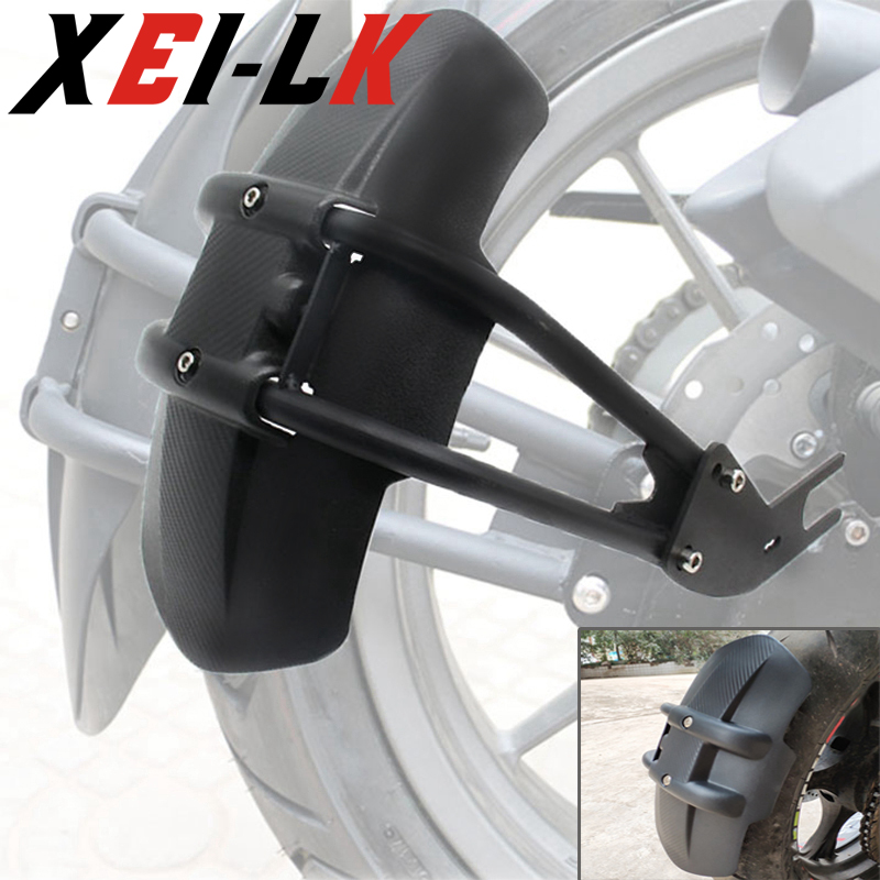 Universal Black Plastic Motorcycle Rear Fender Bracket Wheel Cover Splash Guard Mudguard For Yamaha MT-07 MT07 Kawasaki Z900
