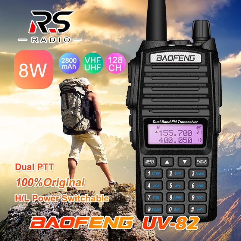 8W Powerful Baofeng UV-82 FM Walkie Talkie 10KM UHF VHF Marine CB Radio VOX Transceiver UV 82 Long Range Two Way Radio Transmitt