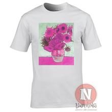 Van Gogh Tournesols Vaporwave T-Shirt esthétique Recolourized Classique Art Cool décontracté fierté T-Shirt hommes unisexe mode T-Shirt