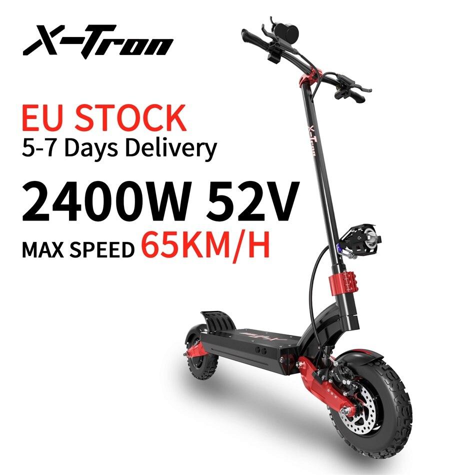 Х-Tron 2400 Вт Электрический скутер 65 км/ч Электрический скейтборд 23.4AH двойной мотор E скутер гидравлические тормоза мотоцикла скутеры