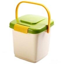 Пластиковый собачий контейнер для еды, герметичный, анти-окислительный, большая емкость, коробка для хранения, кошачий контейнер для еды, многофункциональное хранение