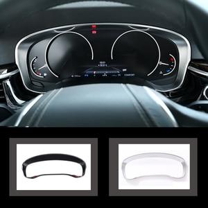 Image 1 - פחמן כרום רכב לוח מחוונים רדיאטור מד מרחק קישוט מסגרת כיסוי Trim מדבקה עבור BMW 5 סדרת G30 G38 530li 520Li 2018 2020