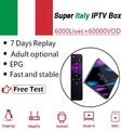 H96MAX Android 9,0 RK3318 TV box + Super IPTV Italia, Alemania albanés Europa Reino Unido adulto IPTV m3u 4K HD 4G64G Dual Wifi set top box