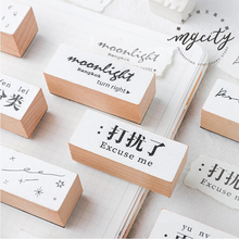Vintage number stamp DIY wooden rubber stamps for scrapbooking stationery standard