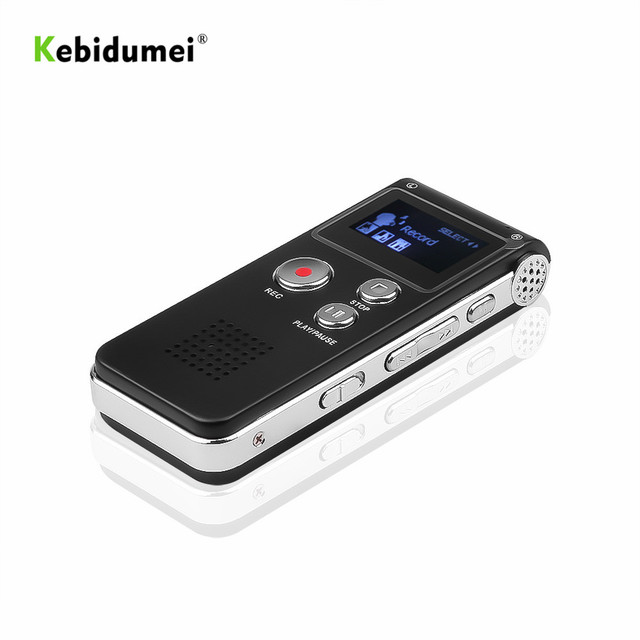 kebidumei 8 GB Voice Recorder USB Dictaphone Digital Audio Voice Recorder for Business with MP3 Player Built in Microphone