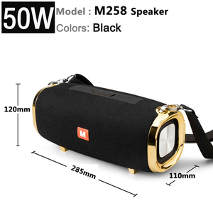 new M258 high-power 50w wireless portable bluetooth speaker, subwoofer stereo, TWS music center, can play for a long time som