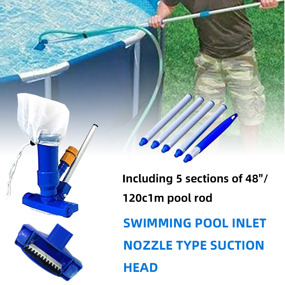 Hf4b3ca8f4b7a4836a181942341dcf28be - 1 Set Jet Swimming Pool Vacuum Cleaner Floating Objects Cleaning Tools Vac Suction Head Pool Fountain Vacuum Brush Cleaner