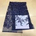 2020 afrikanische 3d Pailletten Spitze Stoff blau Bestickte Nigerian Net Schnürsenkel Stoffe Braut Hohe Qualität Französisch Tüll Spitze Stoff