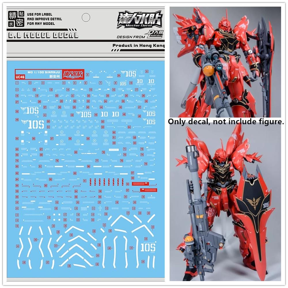 D.L high quality Decal water paste For Bandai MG 1/100 MSN-06S Sinanju Gundam Ver.ka UC46 DL174*(China)