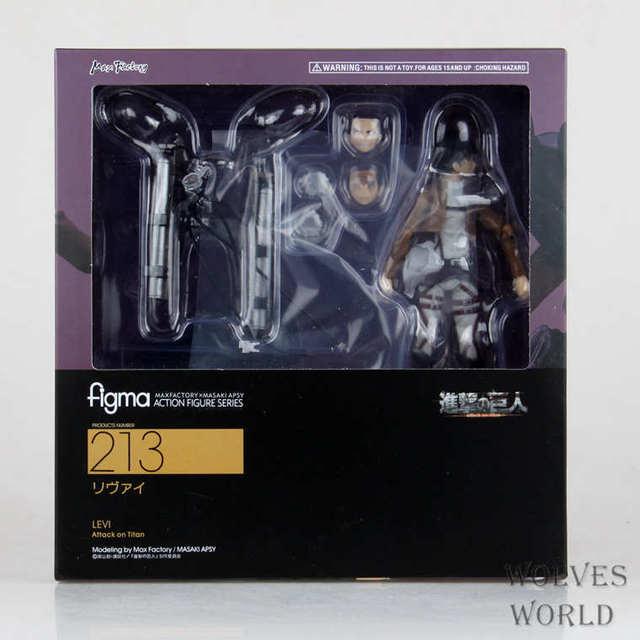 15cm New Anime Attack on Titan Eren Mikasa Levi Ackerman Figma 213 Movable Ver PVC Action Figure Collectible Model Toys 6