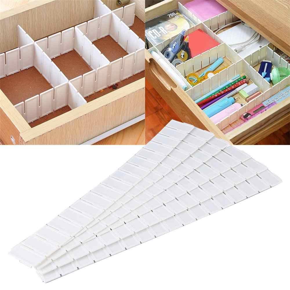 6 sztuk szuflady organizator regulowany Stretch plastikowe szuflady dzielnik przechowywania ścianka działowa dla domu kuchnia cocina organizador
