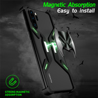 Magnet Metal Case for Huawei P30 P30 Pro Shockproof Aluminum Alloy Bare Frame Bumper Cover for Huawei Mate 20X 5G Luminuous Case