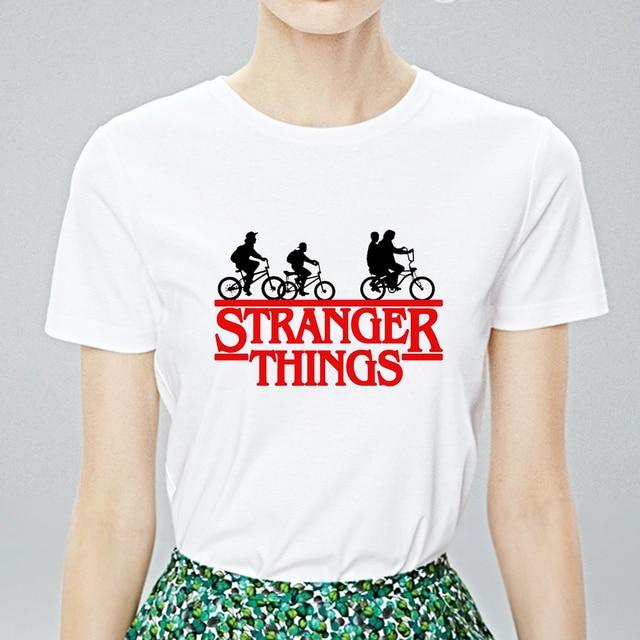 Été étranger choses imprimer T-shirts aller avec tendance gothique amusant T-shirts Streetwear pas cher simple grande taille Harajuku T-shirts