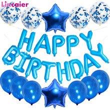 ハッピーバースデーバルーンバナー最初の誕生日少年パーティーの装飾子供の女の子私 1st 1 年間大人花輪用品