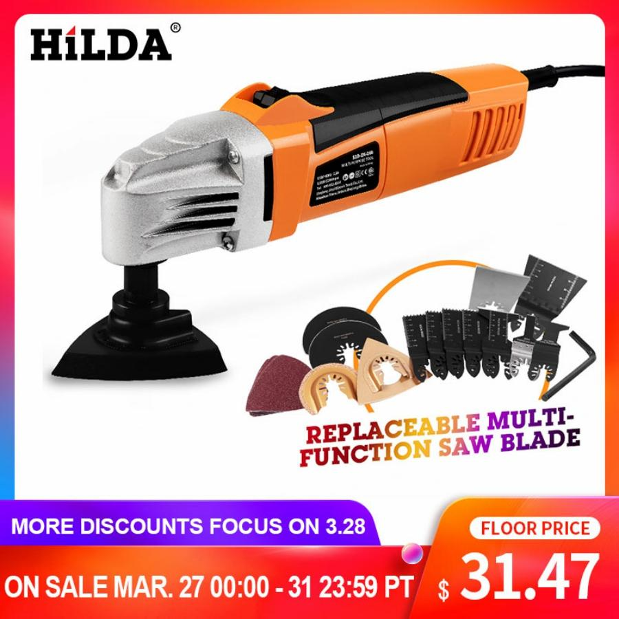 HILDA Renovator Multi Tools Electric Multifunction Oscillating Tool Kit Multi-Tool Power Tool Electric Trimmer Saw Accessories