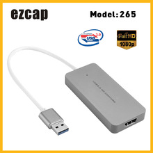 Ezcap USB 3.0 Dispositivo di Scheda di Acquisizione HD Video Game Recorder 1080P In Diretta Sreaming Convertitore Plug and Play per XBOX un PS3 PS4 WII U