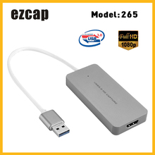 Ezcap USB 3.0 HD karta przechwytująca urządzenie gra wideo rejestrator 1080P transmisja na żywo wtyczka konwersji i odtwarzania na XBOX One PS3 PS4 WII U
