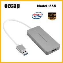 Ezcap USB 3.0 HD بطاقة التقاط الصوت والفيديو جهاز لعبة فيديو مسجل 1080P لايف sreating مقبس محول واللعب ل XBOX One PS3 PS4 وي U