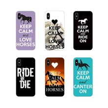 quotes Keep Calm and Ride On Horse For Samsung Galaxy A3 A5 A7 A9 A8 Star A6 Plus 2018 2015 2016 2017 Transparent TPU Case Cover(China)