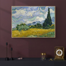 Van Gogh Wheat Field With Cornflowers Oil Painting on Canvas Posters and Prints Cuadros Wall Art Pictures For Home Living Room van gogh starry night oil painting on canvas posters and prints cuadros wall art decorative pictures for living room home decor