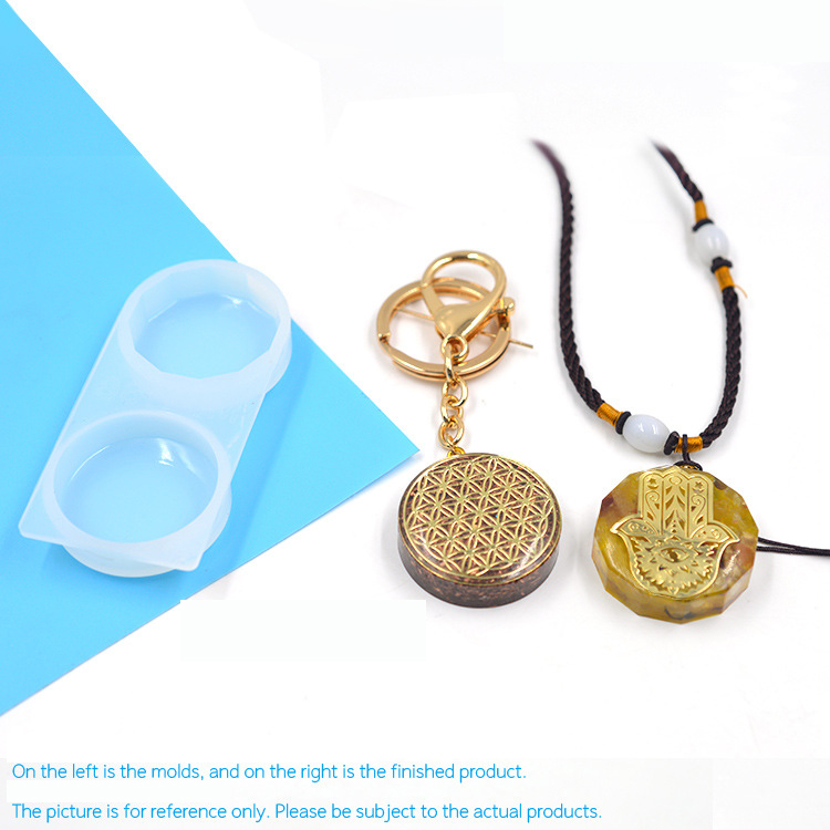Round Jewelry Making Mold UV Resin Pendant Silicone UV Resin Pendant Mold Kawaii Decoden Cabochon Making Clear Mold For UV Resin