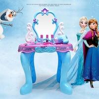 disney frozen baby girls toys princess toys toys toys Makeup table beauty toy suitcase set toys for girls kids makeup