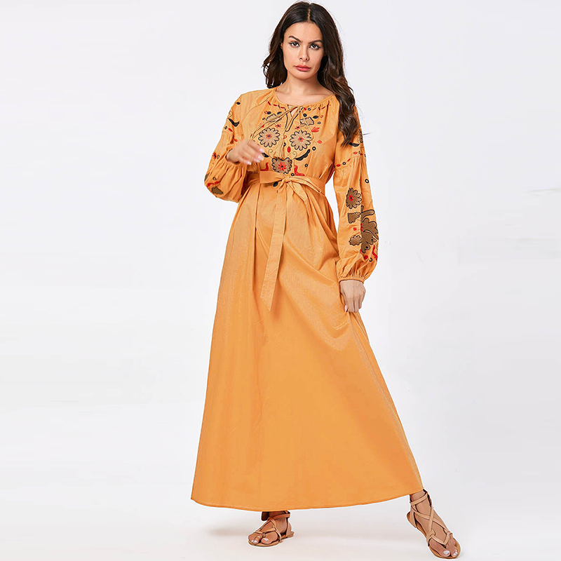 Dubai Abaya Turkish Hijab Muslim Dress Kaftan Islamic Clothing Women Caftan Islam Dress Abayas Beautiful Robe Musulmane Kleding
