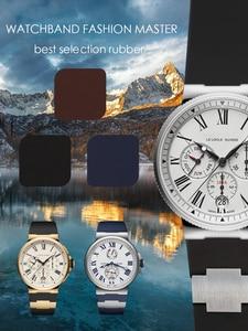 Image 2 - רצועת השעון צמיד סיליקה ג ל שעון להקת ליוליסס Nardin הימי עמיד למים גומי שעון רצועת ספורט 25*12mm גבר שעונים ספורט