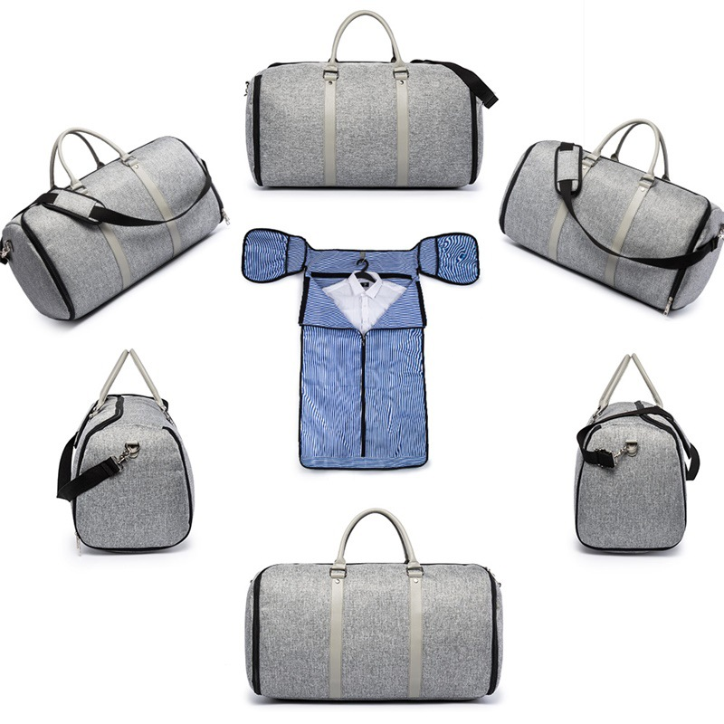 Multifunctional Men Business Duffle Bags Large Capacity Suit Storage Bags Casual Gym Bag Travel Luggage Bag Foldable Handbag