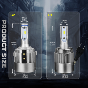 Image 3 - 2x G1 G2 7600Lm Car LED Canbus Headlight Driving Lamp Light Bulb Kit 72W DC9 36V For BMW Audi Benz VW Golf 6 7 Nissan