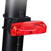 Magnetische Power Genereren Fiets Achterlicht Nacht Veiligheidswaarschuwing Licht Inductie Rode Led Fiets Achterlicht Mtb Fietsen Tail Lamp
