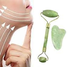 Natuurlijke Jade Roller Guasha Skin Schraper Facial Set Gezicht Steen Verstevigende Gezicht Anti-Aging Gezwollen Ogen Massager Hals Anti rimpel