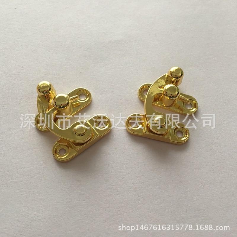 Die Casting Lock Horns Manufacturers Hot Sales 29*33 Size Wooden Box Lock Jewlery Box Lock Zinc Alloy Lock Catch