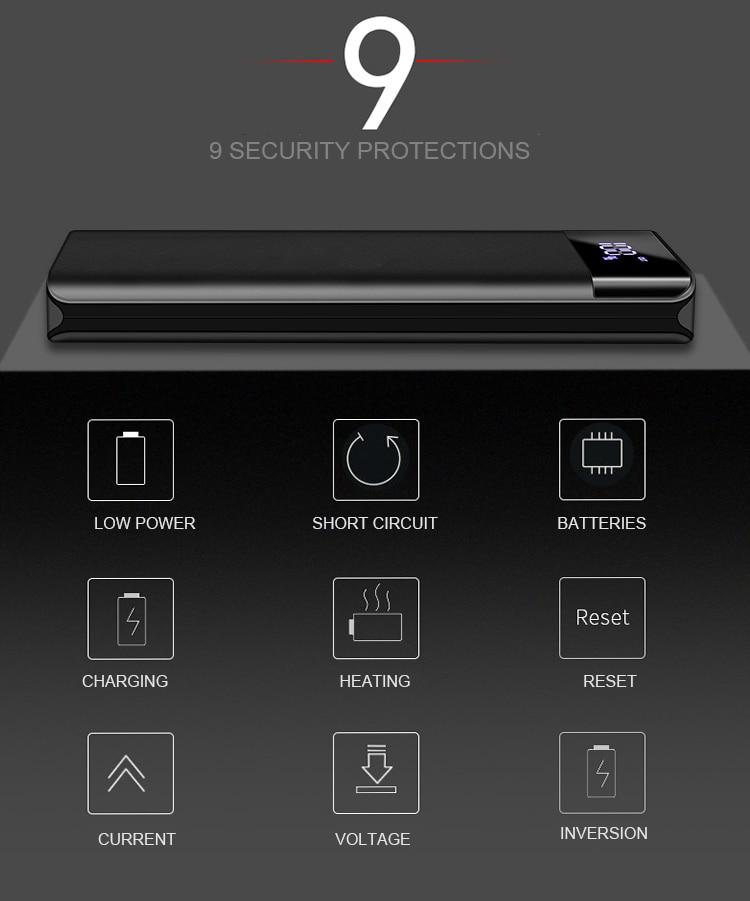 Portable 20000mAh Power Bank Charging For Xiaomi Mobile Phones 2