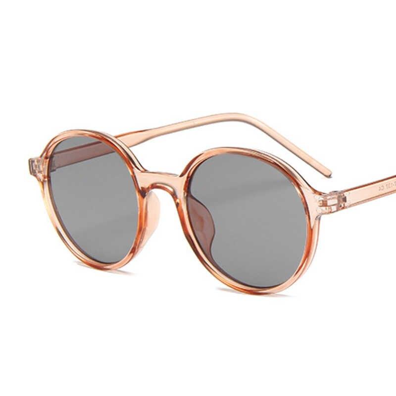 Round Kacamata Wanita Kualitas Tinggi Cermin Vintage Hitam Berjemur Kacamata Perempuan Merek Desainer Oculos De Sol Feminino