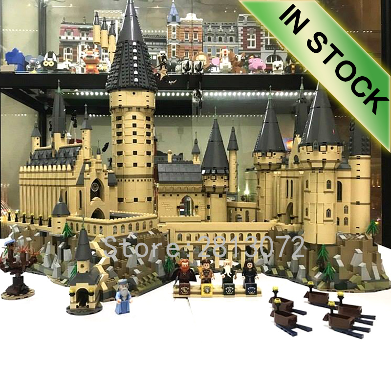 71043 In Stocks Movie H Warts Castle School Magic Model 6044pcs Building Blocks Brick Children Gift Compatible With 16060 Toys