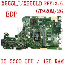 X555LD ASUS Laptop Mainboard-Test for W519l/X555l/X555ld/.. 4g-Ram I5-5200CPU EDP REV3.6