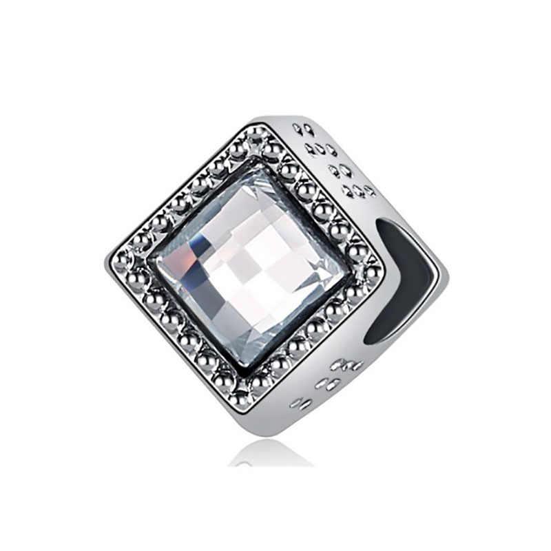 Fit Pulsera Pandora Charms เงิน 925 สร้อยข้อมือลูกปัดสำหรับเครื่องประดับทำแฟชั่นเครื่องประดับ Bijoux Reflexions Charm