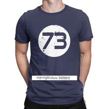 Camiseta de algodón para hombre, prenda de vestir, con estampado de Sheldon Geek, TBBT Crazy, camiseta para ejercicio, modelo The 73