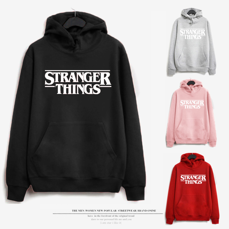 Fashion Hoodies Women Tranger Things Letter Printed Sweatshirt Kpop Brand Hoodie Female Autumn Winter Hip Hop Oversized Hoodie
