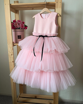 Baby Baptism Dress Lace Princess Gown Summer Infant Birthday Pink Dress Christmas Party Dress Newborn Girl Clothes