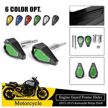 Frame Sliders For Kawasaki Ninja ZX6R Fairing Cover Engine Guard 2013 2014 2015 ZX 6R Crash Pad Protector Motorcycle Accessories