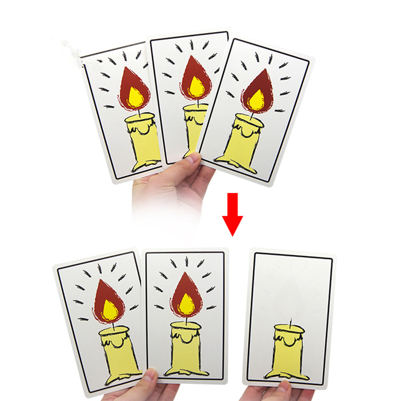 Relighting Candles Free Shipping Magic Cards Magic Tricks Magic Props Amazing New Magic Toy Funny Kids Toys