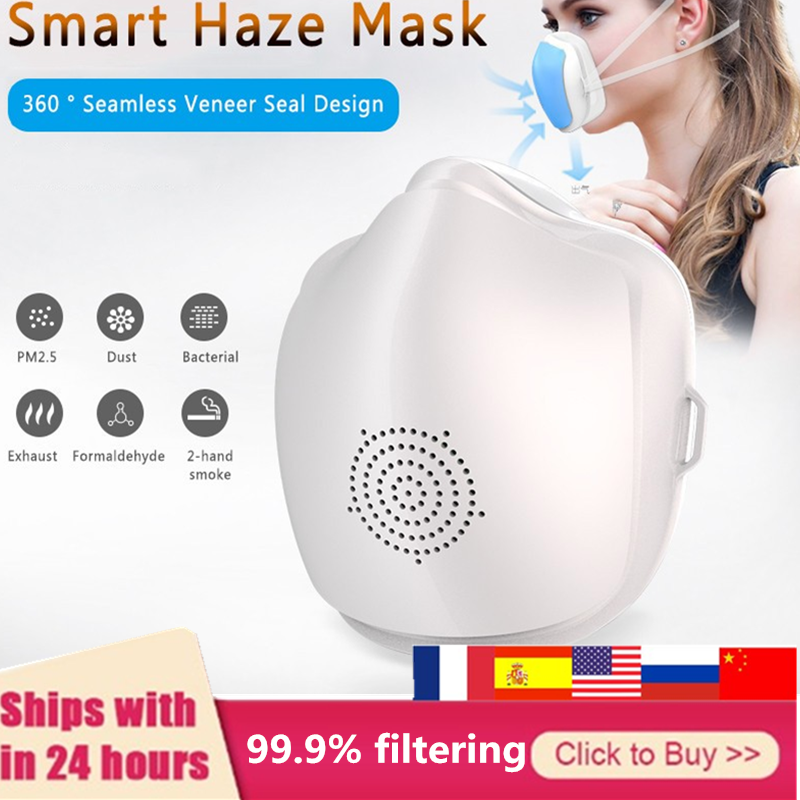 6 Layers Mask 99.9% Filtering Electric Mask Air Purification Reusable Breathable Filter