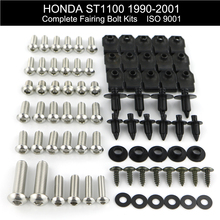 цена на For Honda ST1100 1990-2001 1991 1992 1993 1994 1995 1996 1997 1998 1999 2000 Complete Full Fairing Bolts Kit Stainless Steel