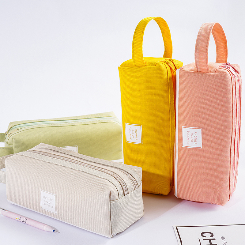 Colorful Large Capacity Pencil  Bags Creative  Fabric Pen Box Pouch Case School Office Stationary Supplies