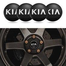 4 pçs 56mm roda de carro adesivos pneu centro hub tampa emblema decalques para kia rio k k2 k3 k4 k5 k6 optima cerato sportage ceed alma