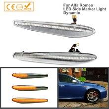 2Pcs LED 동적 턴 신호 라이트 펜더 프론트 사이드 마커 램프 Alfa Romeo 159 Sportagon Boera Spider 939 자동차 스타일링