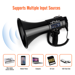 Image 5 - 50W big lautsprecher shout aufnahme multi funktion lautsprecher handheld megaphon